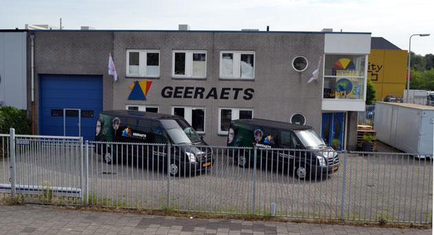 Het pand van Geeraets Autolak
